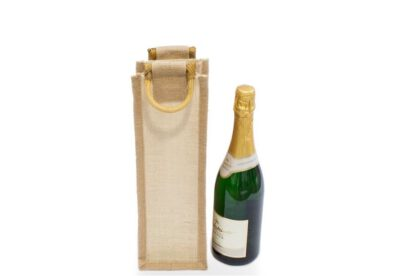 Jutetasche für eine Flasche ohne Sichtfenster